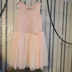 Catherine Malandrino Pink Tulle Sequin Dres